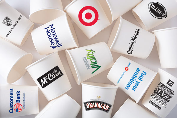 Cups with logos