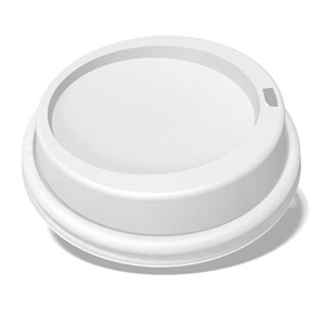 white dome lid for a custom printed paper cup